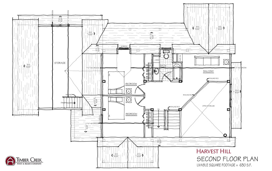 Harvest Hill Second Floor Plan