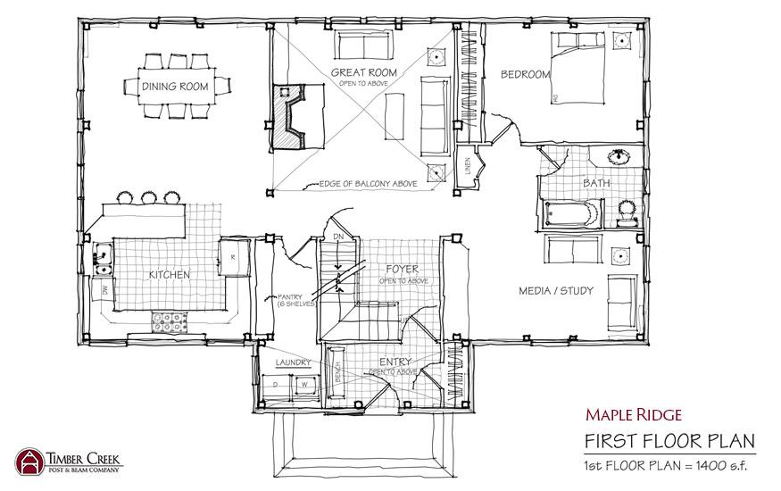 Maple Ridge First Floor Plan