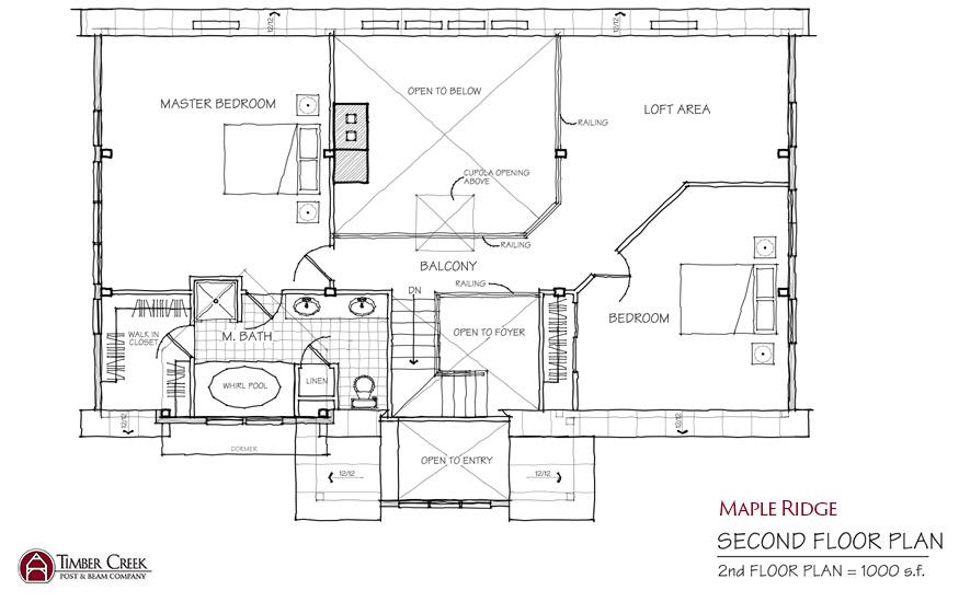 Maple Ridge Second Floor Plan