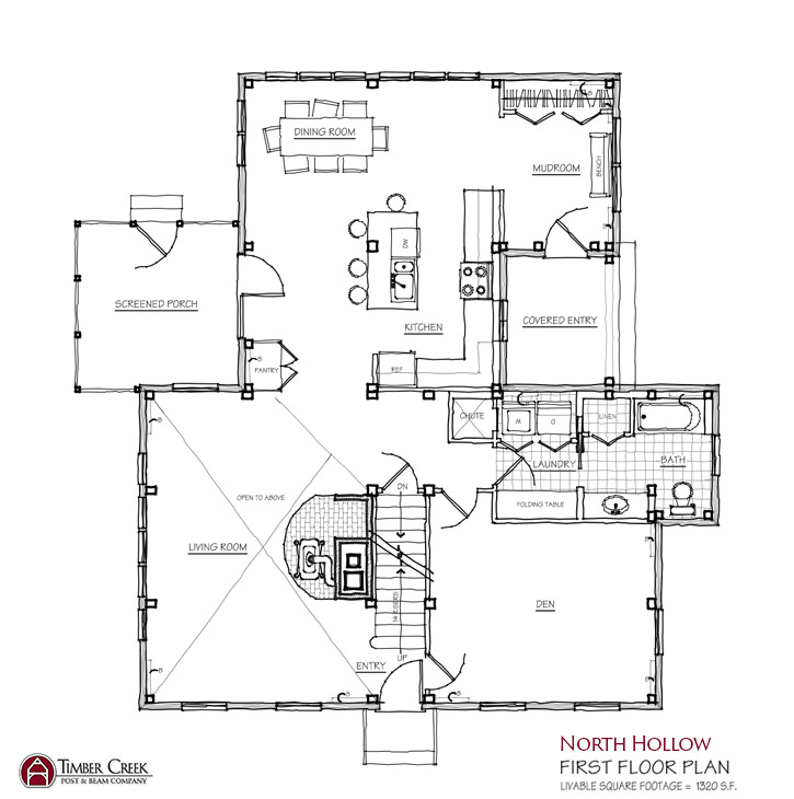 North Hollow First Floor Plan