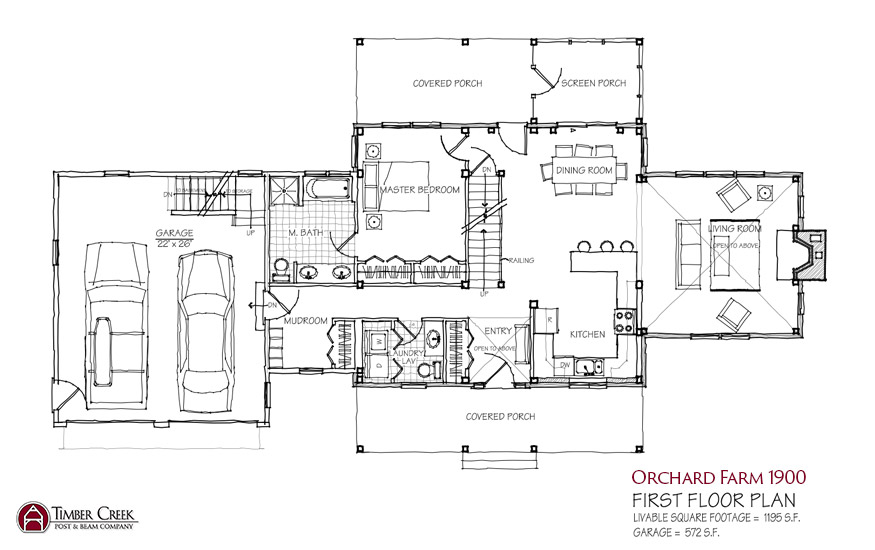 Orchard Farm 1900 First Floor Plan