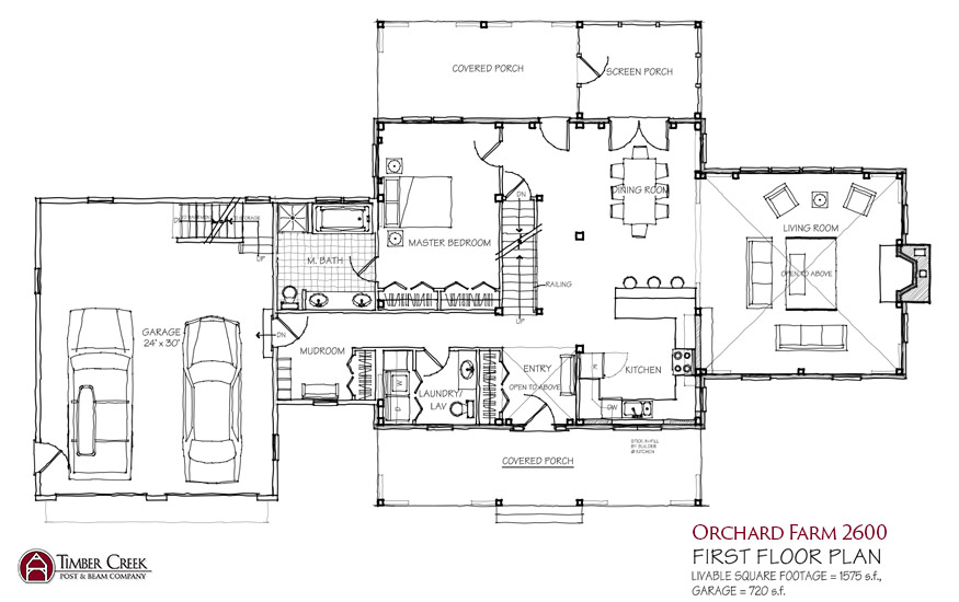 Modern farmhouse floor plans modern farmhouse floor plan for Modern open floor house plans