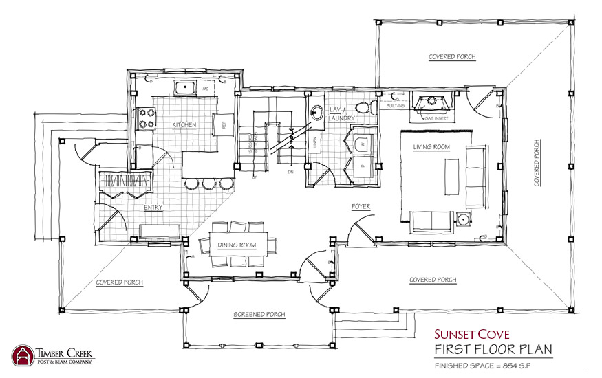 Sunset Cove First Floor Plan