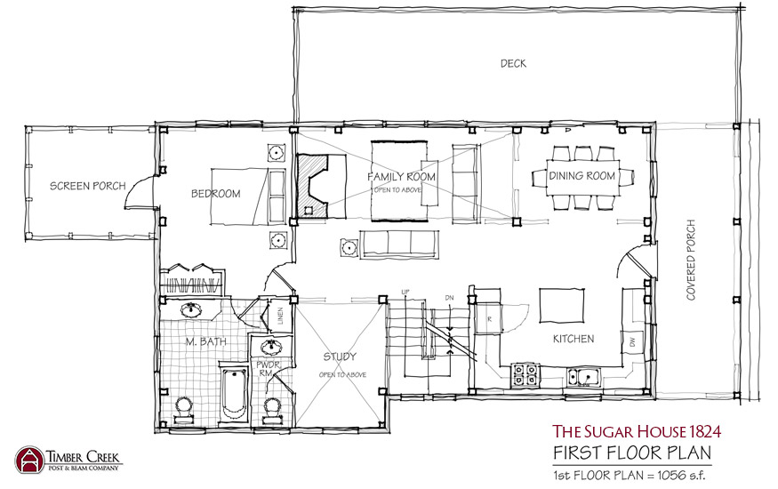 The Sugar House 1824 First Floor Plan