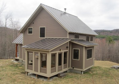 Another one of our smaller designs, but it packs in the features. Off grid in Hubbarton Vt.