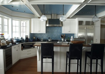 Blue seems to be fitting for this Lake Champlain home
