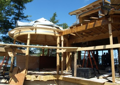 Framing a round roof poses some challenges, but he results are worth it!
