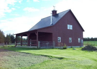 Holding livestock was the main purpose of this Benson Vt barn. Some barns are for toys, others are for animals.