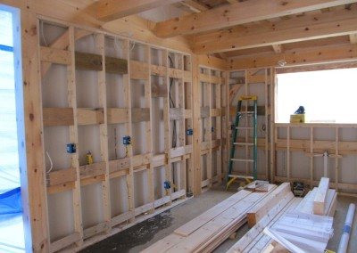 Interior framing for a kithcen