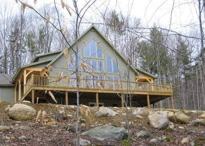 It's a mountain style house which fits in the homeowners interest in skiing the local mountains nearest them, Pico and Killington.