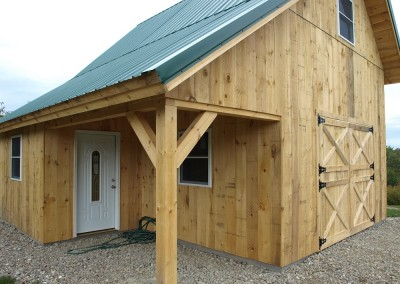 Not too big nor too small, but a timber barn that was just the right size and functionality for this family.