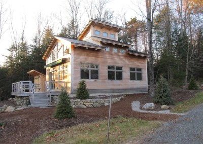 Occasionally we work with an architects design such as the case with this Lake Ninieva Vt home.