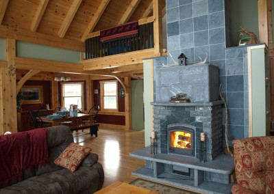 Our model home in Pittsford Vt showcases a Tulikivi soapstone stove