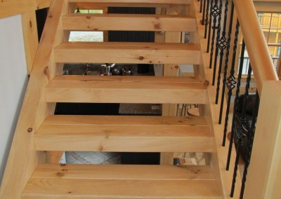 Stair treads and stringers made from timbers