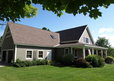 The homeowners of this Shrewsbury Vt bungalow couldn't wait to move into their new Timber Creek home.