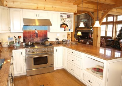 Tile backsplash is from a Winslow Homer painting