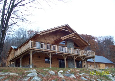 Timber Creek designed this home with a huge wrap around deck and extra large overhangs.