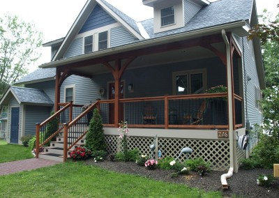 We took our Woodland Trace standard plan and modified it for the owners of this Lake Dunmore Vt property.