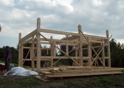 Timber barn frame