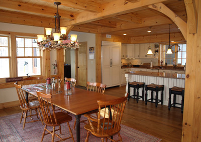 Kitchen - dining room - timber frame