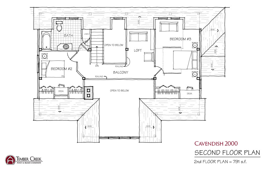Cavendish 2000 Second Floor Plan