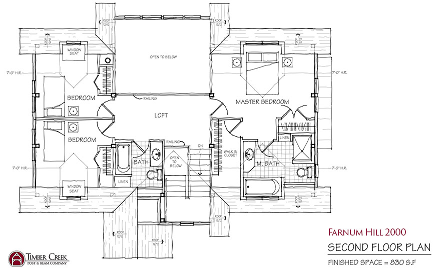 Farnum Hill 2000 Second Floor Plan