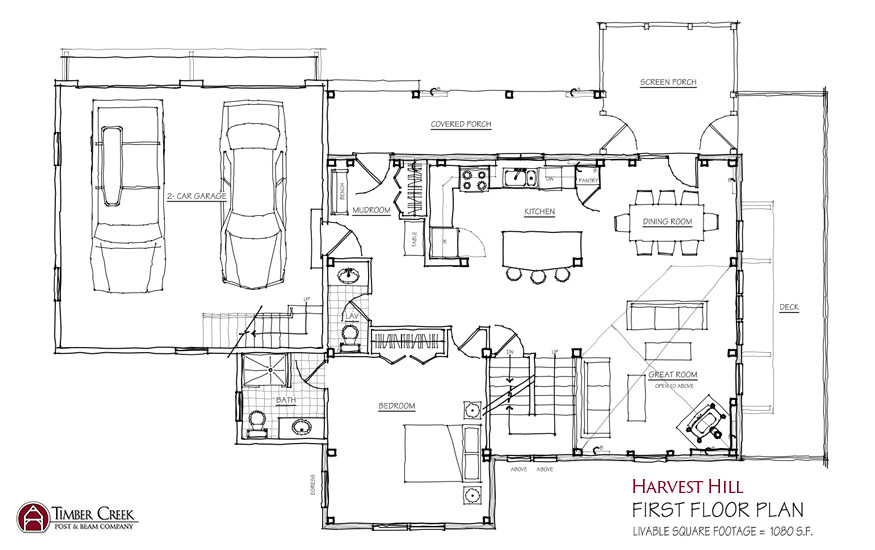 Harvest Hill First Floor Plan