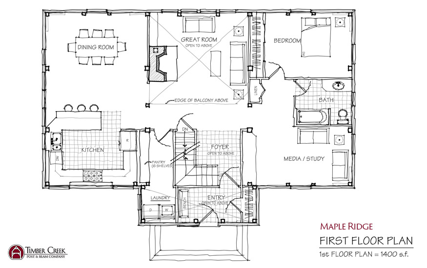 Maple Ridge First Floor Plan