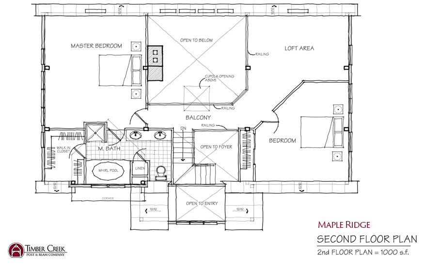 Maple Ridge Second Floor Plan