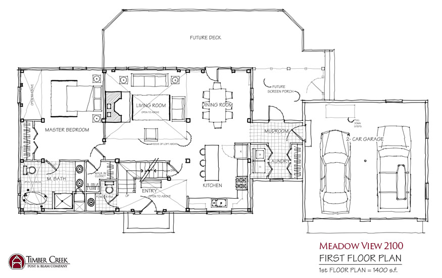 Meadow View 2100 First Floor Plan