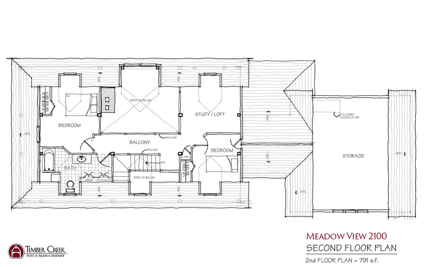 Meadow View 2100 Second Floor Plan