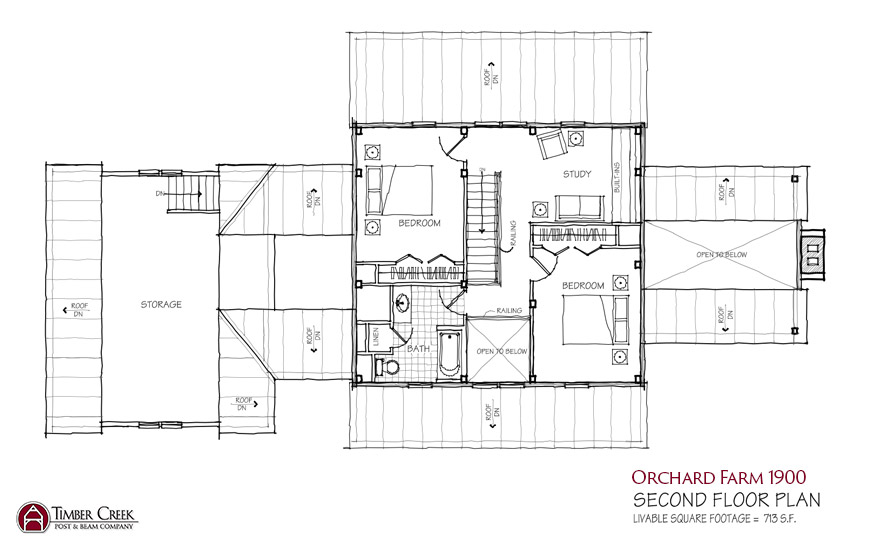 Orchard Farm 1900 Second Floor Plan