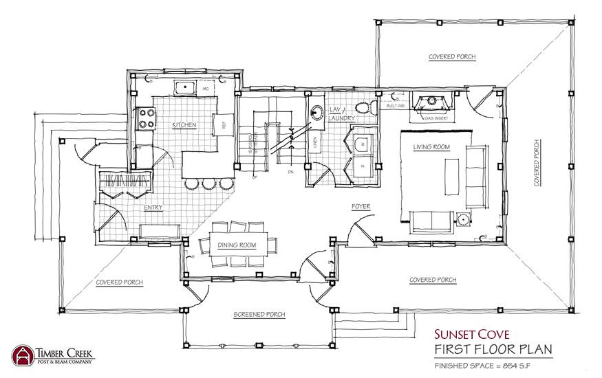 Sunset Cove First Floor Plan