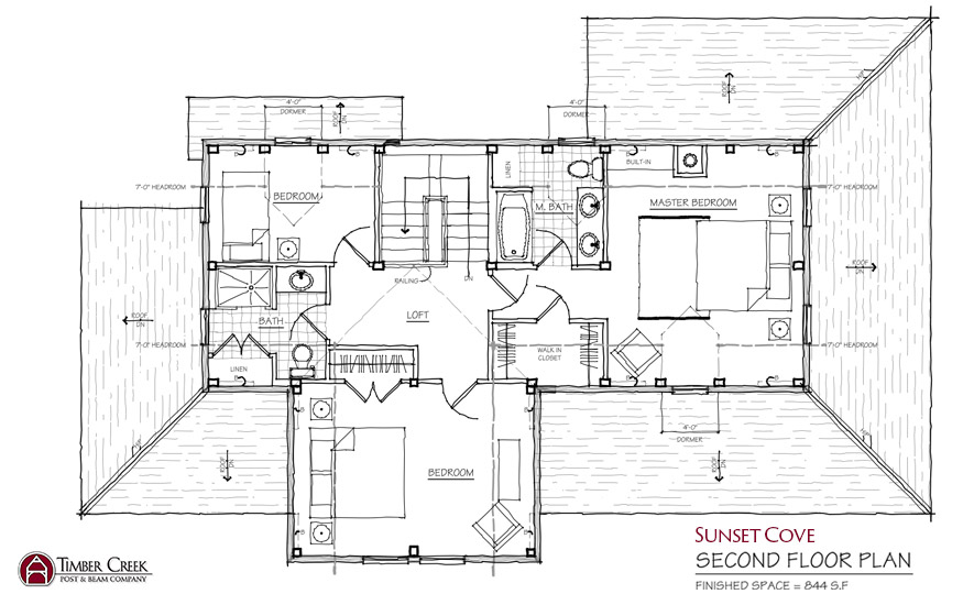 Sunset Cove Second Floor Plan