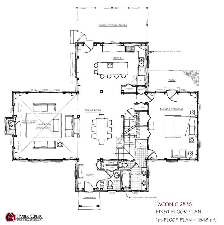 Taconic 2836 First Floor Plan