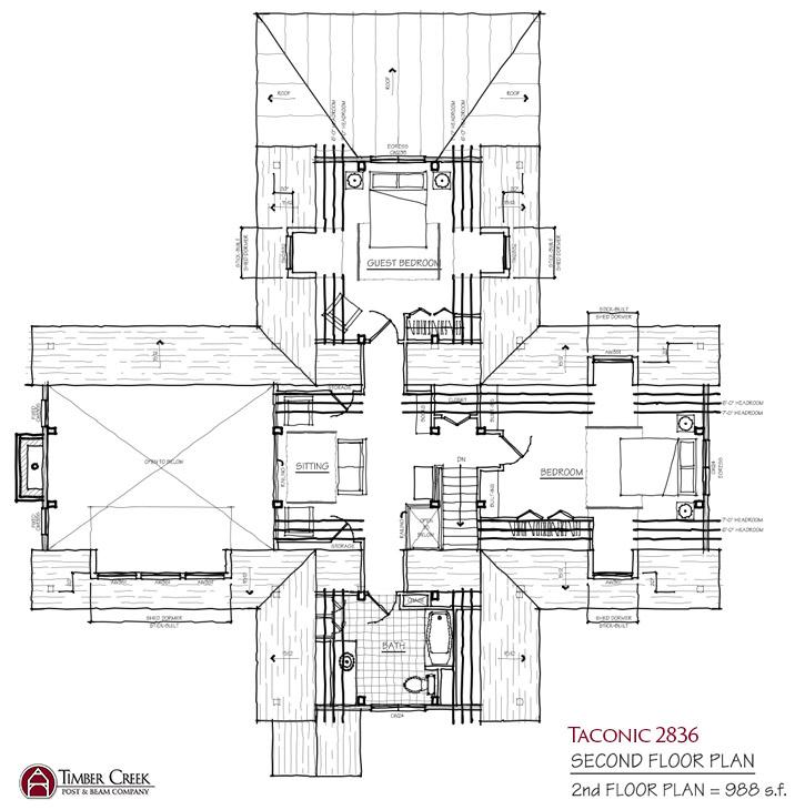 Taconic 2836 Second Floor Plan