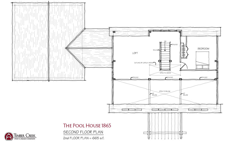 The Pool House 1865 Second Floor Plan