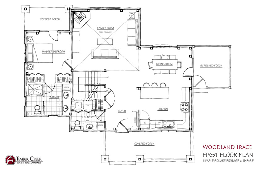 Woodland Trace First Floor Plan