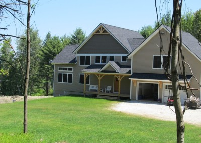 A home designed for a growing family, this timber frame is located just south of Burlington Vt.