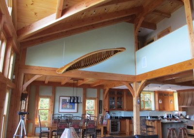 An Adirondack cedar canoe is no match for this Douglas fir frame