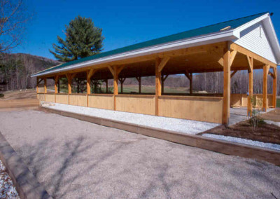 An open pavilion is what this owner in Clarendon Vt requested. This one happens to be 30 x 84