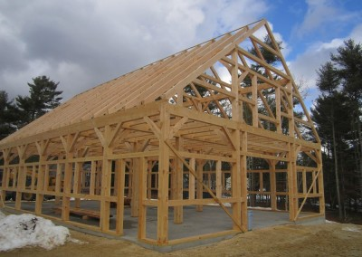 Completed 40 X 60 eastern white pine timber frame in Chatham Massachusetts. To put it mildly. the owners were very pleased the finished product.