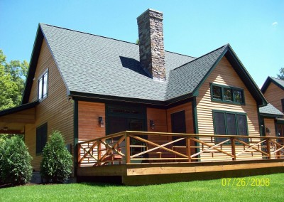 Dorsett Vt is the site of this beautiful timber frame. Plenty of deck space for outdoor entertaining.