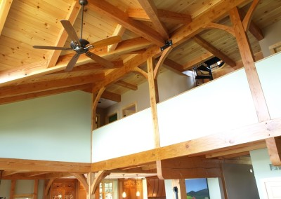 Douglas fir and intricate joinery abounds in this Lake Champlain home