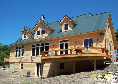 From our standard plans, this Benson Vt home is a variation of Timber Creeks Meadowview plan.