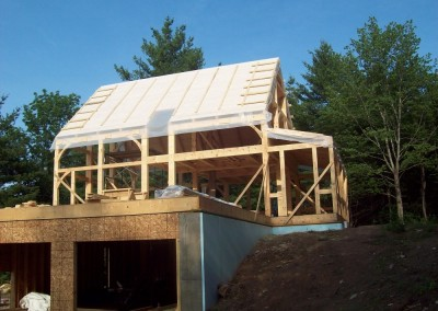 Getting ready to insulate the roof