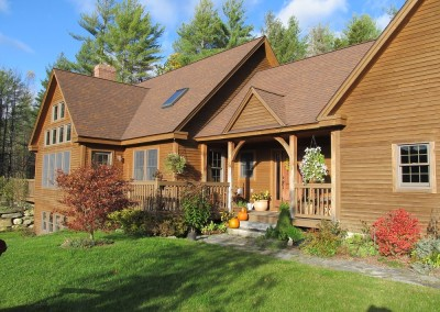 Its easy to feel welcome in this Ludlow Vt home with views of Okemo Mtn Ski Area.