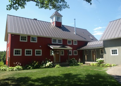 Located in South Royalton Vt, this home is a nice example of a barn style design