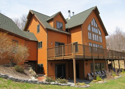 One of our standard plans, the Farnum Hill, was the inspiration for this Andover Vt home with breathtaking views.