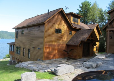 Peter Welch Builder and Timber Creek teamed up to build this Lake Champlain Vt gem.